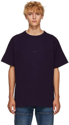 Acne Studios Purple Distressed Logo T-Shirt