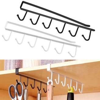 Yosoo YOSOO Multifunction Kitchen Storage Rack Cupboard Shelf Hanging Hook Wardrobe Organizer Holder Space Saver Organizer Hook Rack Holder (Black)