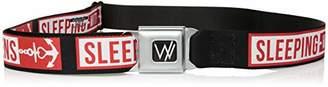 Buckle-Down Men's Seatbelt Belt Sleeping with Sirens XL