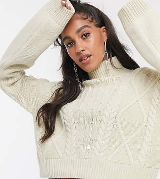 Reclaimed Vintage inspired cropped cable knit jumper
