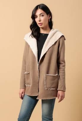 Azalea Noelle Faux Fur Lining Blazer Jacket