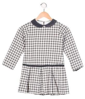 Florence Eiseman Girls' Gingham Corduroy-Trimmed Dress