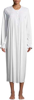 P Jamas Nadine Long-Sleeve Long Nightgown
