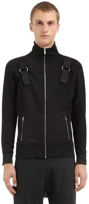 Zip-Up Track Jacket W/ Backpack
