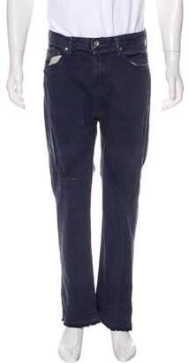 Chimala Distressed Straight-Leg Jeans