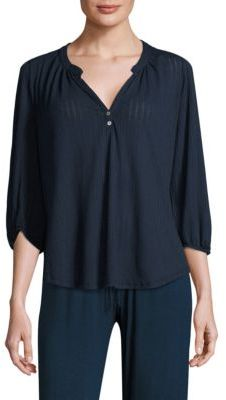 Eberjey Baxter Peasant Top $83 thestylecure.com