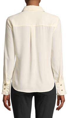 MICHAEL Michael Kors Ruffle-Trimmed Button-Front Blouse
