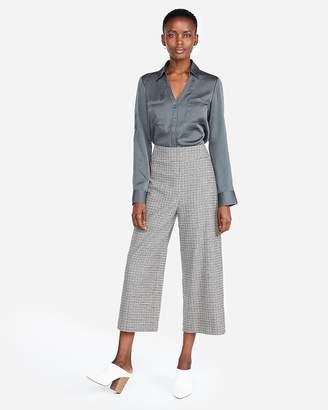 Express Petite Slim Fit Satin Portofino Shirt
