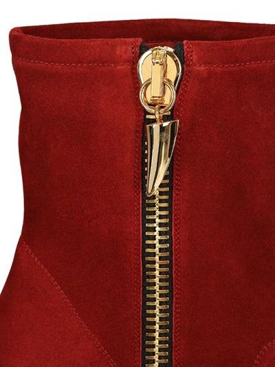 Giuseppe Zanotti 130mm Suede Zipped Boots