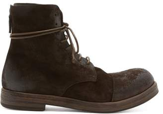 Marsèll Zucca Suede Boots - Mens - Brown