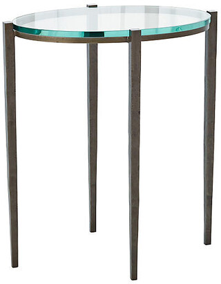 Global Views Petite Oval Side Table - Natural Iron