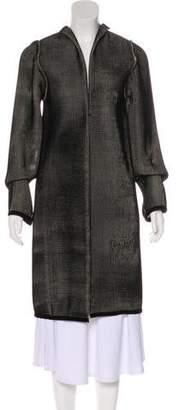 Amelia Toro Waffle Velvet Knee-Length Coat