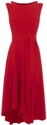 Karen Millen Tie-Belt Midi Dress