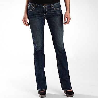JCPenney a.n.a® Premium Bootcut Jeans -Misses Short or Long