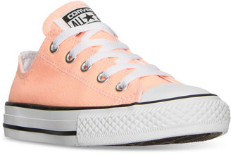 Converse Little Girls' Chuck Taylor Ox Casual Sneakers from Finish Line $34.99 thestylecure.com