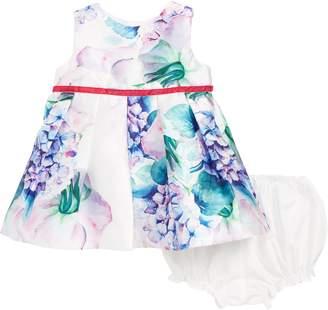 Frais Floral Pleated Party Dress