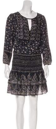 Veronica Beard Silk Long Sleeve Dress