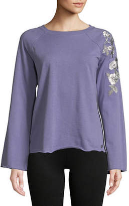 Calvin Klein Embroidered Raglan-Sleeve Top