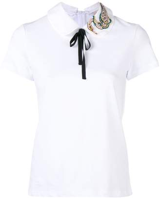 RED Valentino contrast neck tie T-shirt