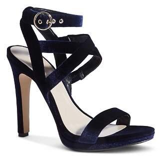 Karen Millen Women's Strappy Velvet High-Heel Sandals