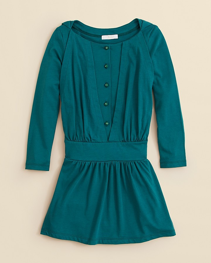 Chloé Girls' Front Button Jersey Dress - Sizes 8-14