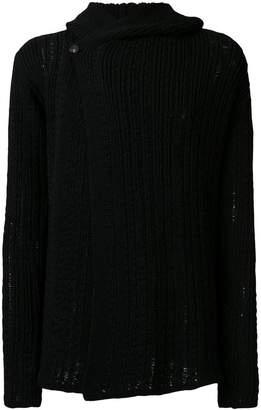 Rick Owens knitted hoodie