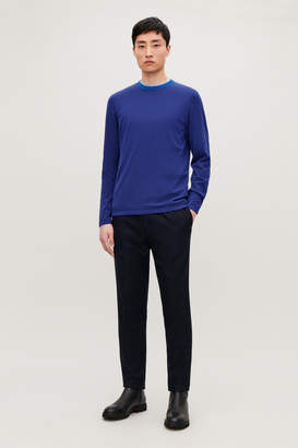 Cos KNITTED COLOUR-BLOCK TOP