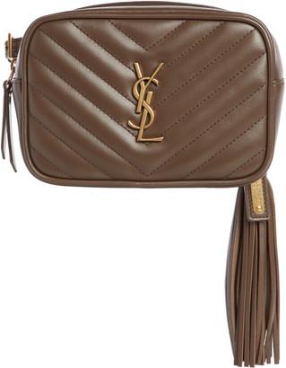 Saint Laurent Lou Quilted Leather Belt Bag with Tassel