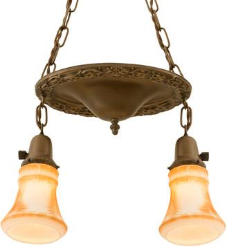 Rejuvenation Suspended 2-Light Pan w/ Colonial Revival Motif