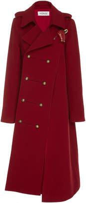 Monse Twisted Double-Breasted Wool-Felt Coat