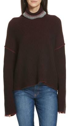 Theory Oversize Cashmere Turtleneck Sweater