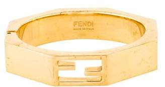 Fendi Angled Hinged Logo Cuff