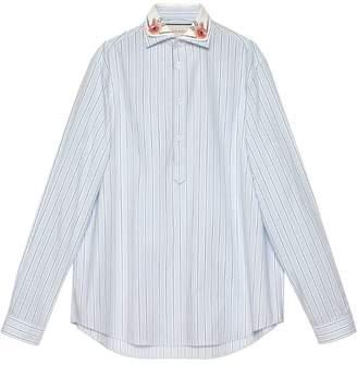Gucci Striped oversize cotton shirt