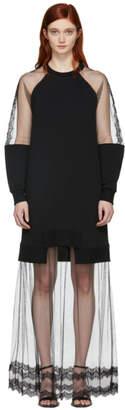 McQ Black Hybrid Long Dress
