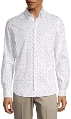 Ben Sherman Clipped Cotton Button-Down Shirt