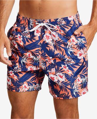 "Nautica Men Floral-Print 8"" Swim Shorts"
