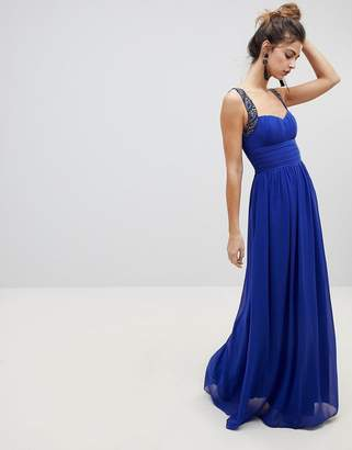 Little Mistress Maxi Dress With Sweetheart Neckline