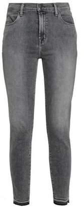 J Brand Alana Frayed High-rise Skinny Jeans