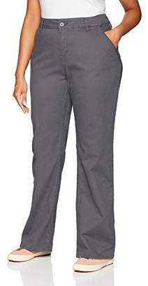 UNIONBAY Women's Plus Size Heather Slash Pocket Uniform Bootcut Pant