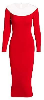 Alexander Wang Women's Sheer Yoke Bodycon Midi Dress