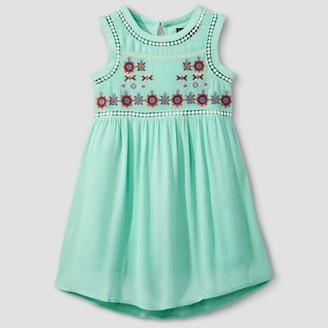 STELLA & SIENNA Girls' Stella & Sienna Embroidered A Line Dress - Mint Green $24.99 thestylecure.com