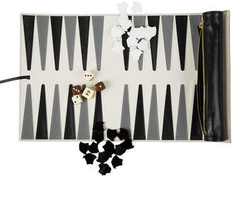 Versace Leather Travel Backgammon Set