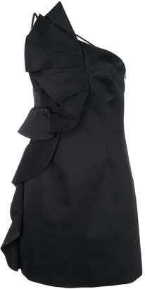 AMUR side ruffle dress