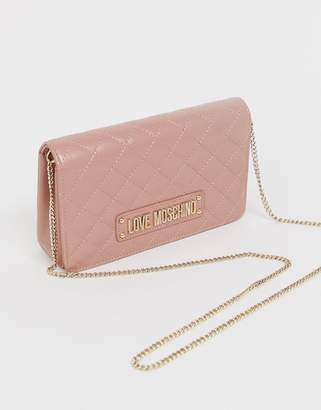 c57d8f43827 Love Moschino quilted mini bag