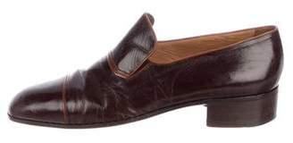a. testoni a.testoni Cap-Toe Leather Loafers