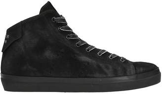 Leather Crown Black Nabuk Sneakers