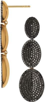 Links of London Yellow Gold Vermeil and Black Diamond Drop Earrings