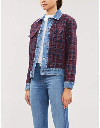 Sandro Chelsy metallic-tweed and denim jacket