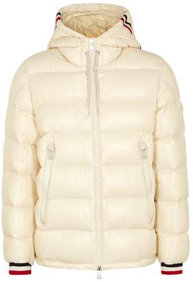 Moncler Alberic Ecru Quilted Shell Coat