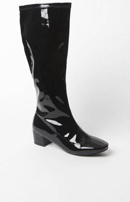 NYLA Shoe Patent Leather Tall Go-Go Boots $65 thestylecure.com